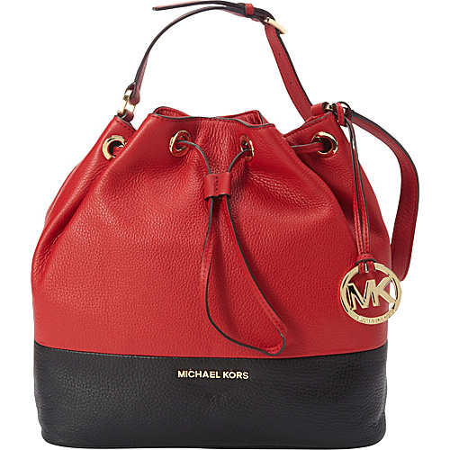 aeec92e8ad83 ... czech bags macys prada purses on sale michael michael kors jules venus  large drawstring shoulder red
