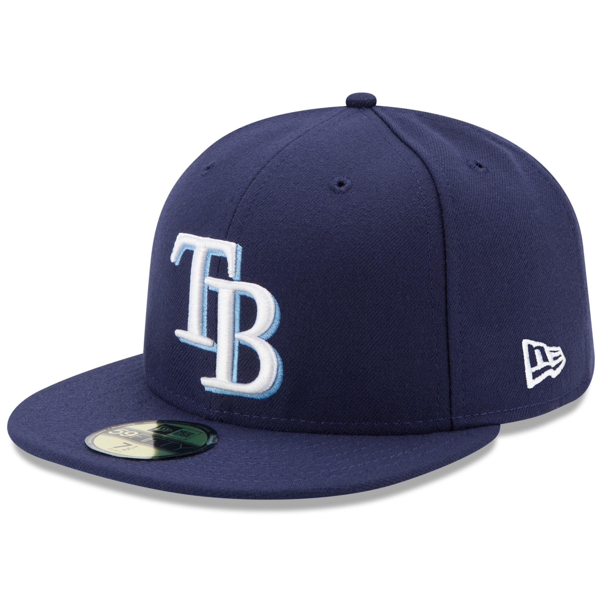 picture of Tampa Bay Rays New Era Game Authentic Collection On-Field 59FIFTY Fitted Hat - Navy