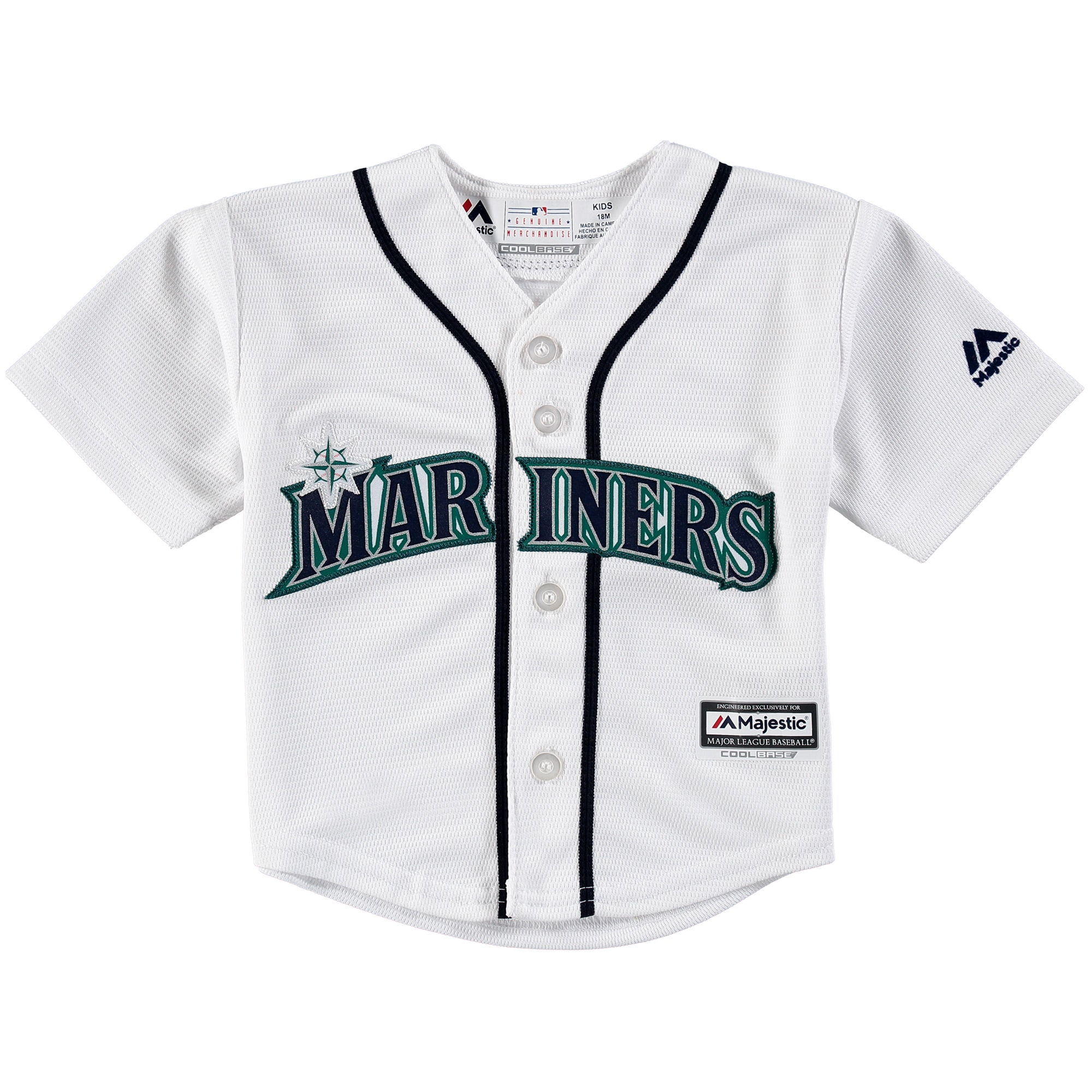 picture of Seattle Mariners Newborn & Infant Official Cool Base Jersey - White