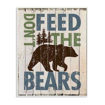 picture of Don't Feed The Bears Wall Plaque Art