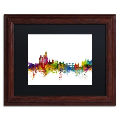 "picture of Amsterdam Skyline II by Michael Tompsett Framed Graphic Art Size: 11"" H x 14"" W x 0.5"" D"