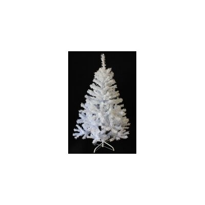 picture of Perfect Holiday Christmas Tree, 7-Feet, PVC Crystal White