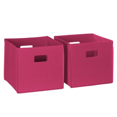 picture of RiverRidge Home Products 2 Piece Folding Storage Bin, Hot Pink