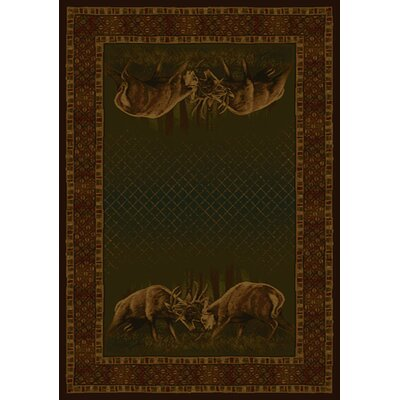 "picture of Buckwear Winner Takes All Lodge Novelty Rug Rug Size: 7'10"" x 10'6"""