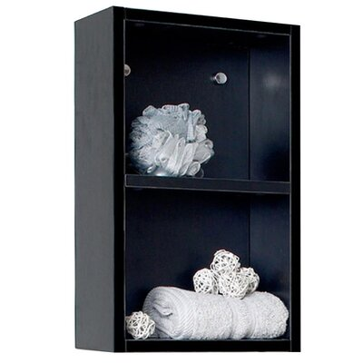 "picture of 11.88"" x 19.63"" Bathroom Linen Side Cabinet Finish: Black"