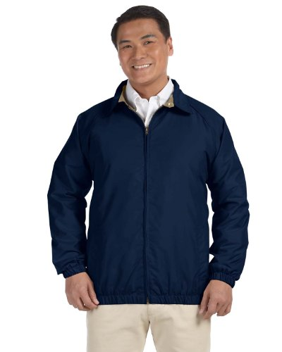 picture of HA MICROFIBER CLUB JACKET (NAVY/STONE) (S)