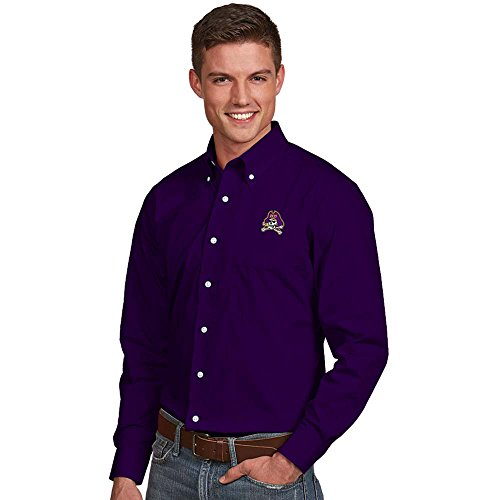 picture of East Carolina Mens Dynasty Button-Down Dress Shirt (Color: Purple) - X-Large