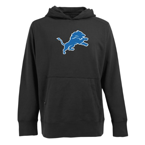 picture of NFL Men's Detroit Lions Signature Hooded Sweatshirt (Black, Small)