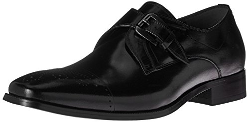 picture of Stacy Adams Men's Kimball-Cap Toe Monk Strap Slip-on Loafer, Black, 10 M US