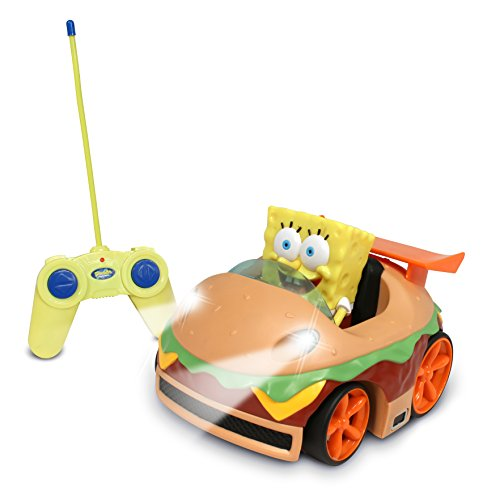 picture of NKOK Remote Control Krabby Patty Vehicle with Spongebob (Discontinued by manufacturer)