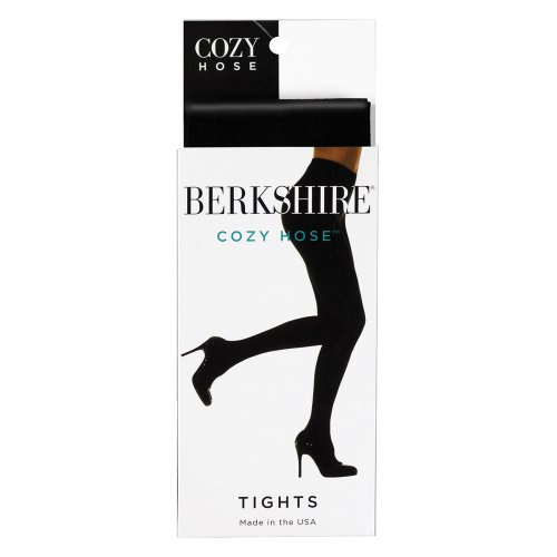 picture of Berkshire Women's Cozy Tight with Fleece Lined Leg, Black, Petite