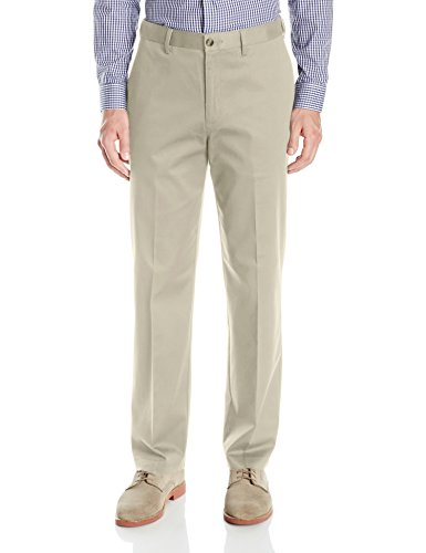 picture of Savane Men's Big and Tall Flat Front Ultimate Performance Chino, Alabaster, 46x32