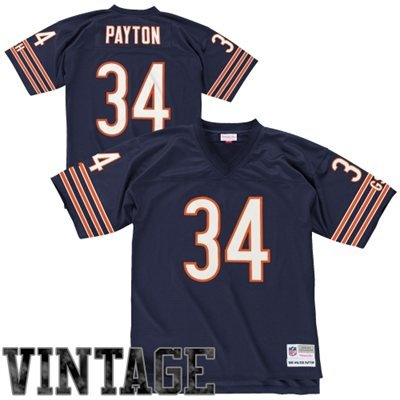 picture of Chicago Bears Walter Payton Premier Throwback Mitchell Ness Replica 7354A Jersey (Large)