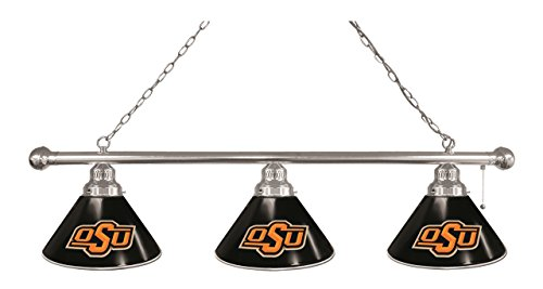 picture of NCAA 3-Shade Pool Table Light by Holland Bar Stool, Chrome - OK State