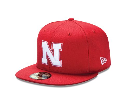 picture of NCAA Nebraska Cornhuskers College 59Fifty, Scarlet Red, 6  7/8