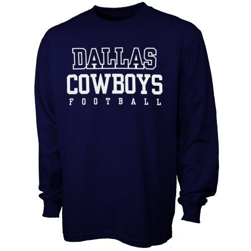 picture of Dallas Cowboys Navy Practice Long Sleeve T-shirt 4X-Large