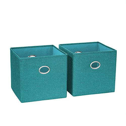 picture of RiverRidge Home Products 16-013 2 Piece Folding Storage Bin Set, Turquoise