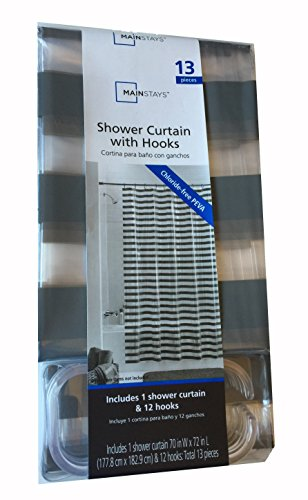 Picture Of Mainstays Shower Curtain With Hooks Grey Luisa