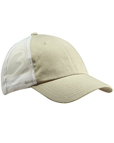 picture of Big Accessories Washed Trucker Cap, Stone/ White, Os