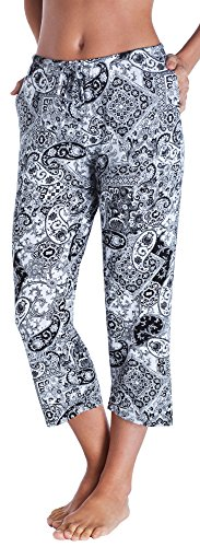 picture of Ellen Tracy Women's Cropped Pajama Pant, Paisley, S