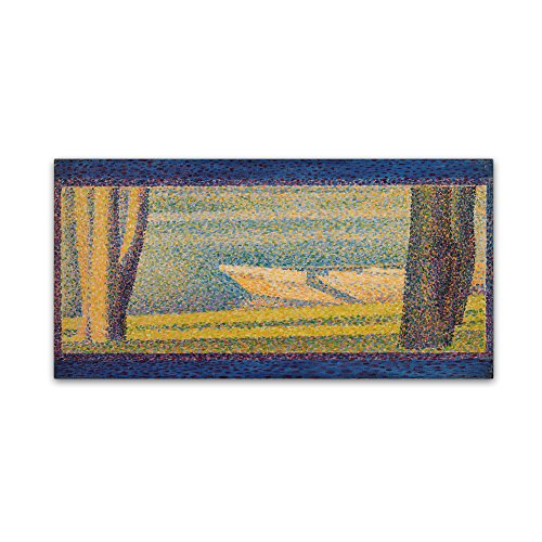 picture of Trademark Fine Art Moored Boats and Trees Wall Decor