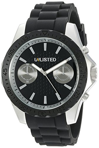 picture of UNLISTED WATCHES Men's 10024680 Sport Analog Display Japanese Quartz Black Watch