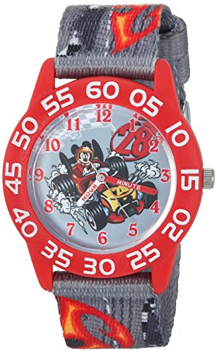 picture of Disney Boy's 'Mickey Mouse' Quartz Plastic and Nylon Casual Watch, Color:Grey (Model: WDS000215)