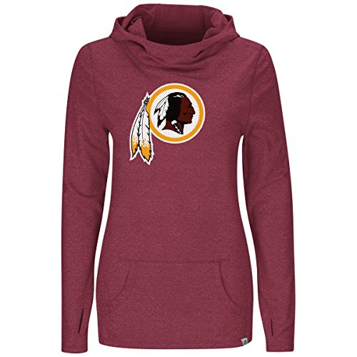 picture of Washington Redskins Majestic Womens Great Play Cowl Neck Hoody (Small)