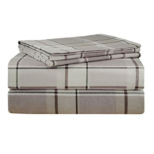 picture of Pointehaven 200 GSM Flannel Sheet Set, King, Printed, Jensen