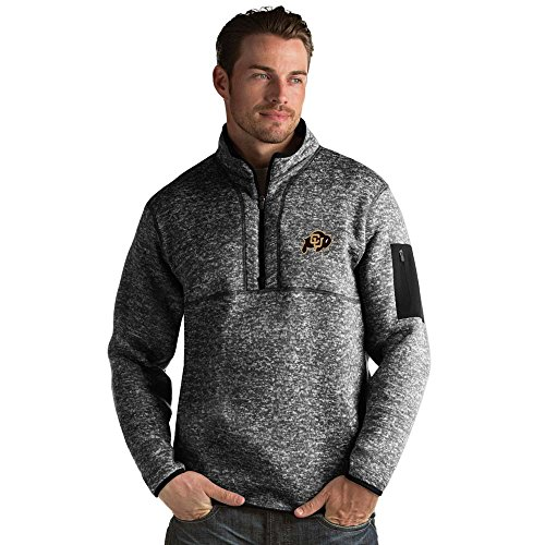 picture of Colorado Mens Fortune 1/2 Zip Pullover (Color: Black) - Large