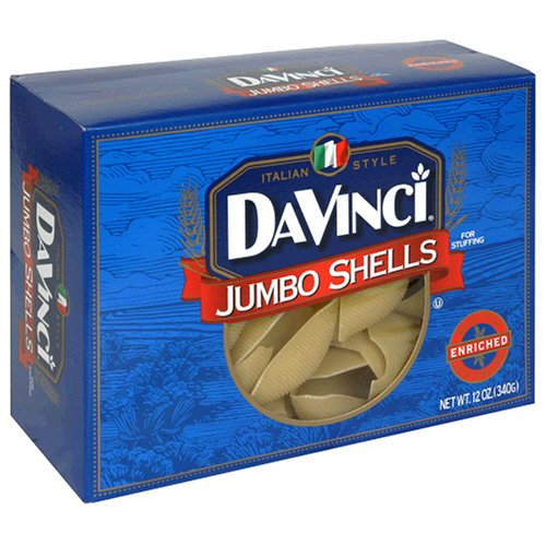 picture of DaVinci Pasta, Jumbo Shells, 12-Ounce Boxes (Pack of 12)