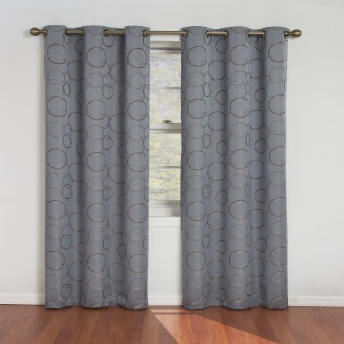 picture of Eclipse Meridian 95-Inch Blackout Window Curtain Panel, River Blue
