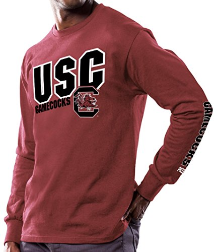 "picture of South Carolina Gamecocks NCAA Majestic ""Points Earned"" Men's Long Sleeve T-Shirt"