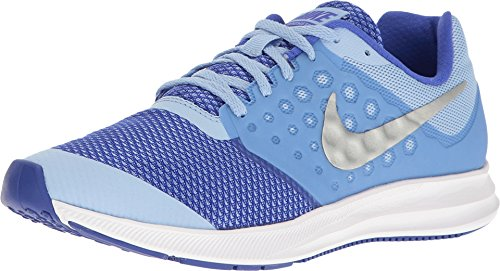 picture of Nike Kids Downshifter 7 Big Kid Aluminum/Metallic  Silver/Paramount Blue Girls