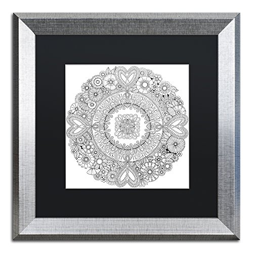 picture of Trademark Fine Art Flowers for my Heart by Hello Angel, Black Matte, Silver Frame, 16x16""