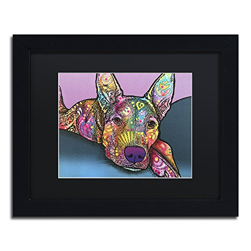 "picture of Trademark Fine Art ALI2640-B1114BMF Rocky by Dean Russo, Black Matte, Black Frame 11x14"" ,,"
