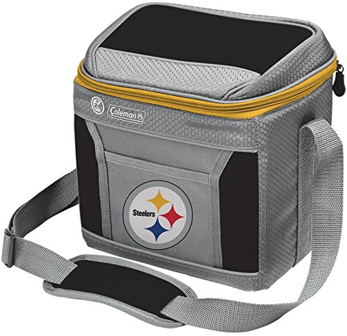 picture of NFL Pittsburgh Steelers 9 Can Soft-Sided Cooler with Ice, Black