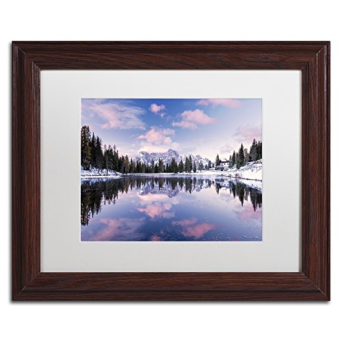 "picture of Trademark Fine Art ""Alpine Pink"" by Michael Blanchette Photography Artwork with Wood Frame, 11"" x 14"", White Matte"