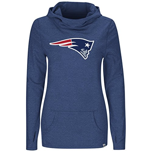 picture of New England Patriots Majestic Womans Great Play Cowl Neck Hoody (Large)