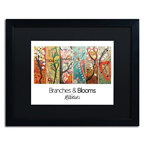 "picture of Trademark Fine Art JR0031-B1620BMF Branches & Blooms by Jennifer Redstreake, 16 by 20"", Black Matte Black Frame"