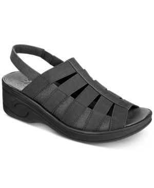 picture of Easy Street Women's Floaty Wedge Sandal, Black/Gore, 7.5 W US
